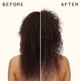 before and after using sexture beach look shampoo | amika