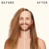 before and after using silken up dry conditioner | amika
