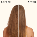 before and after using the shield anti-humidity spray | amika
