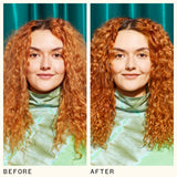 before and after using the kure bond repair shampoo | amika