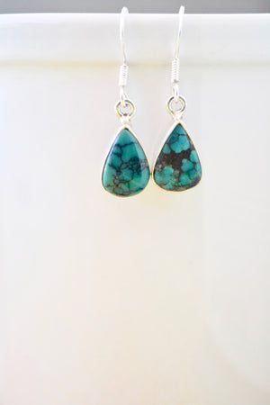 Teardrop Turquoise Dangling Earrings