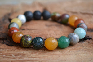 Multi-Gemstone Lava Bracelet (Medium) Aromatherapy