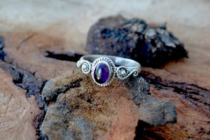 Amethyst Small Healing Stone Ring