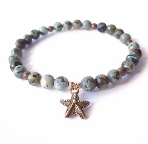 African Turquoise Star fish For Communication Healing