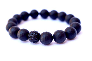 Black Matte Agate Large Healing Power Strength Unisex