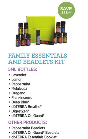 Family Essentials kit of 10 (5ml bottles of essential oils plus 2 FREE)