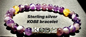 KOBE BRACELET for Men & Women Stretch with Citrine (8 amethysts)