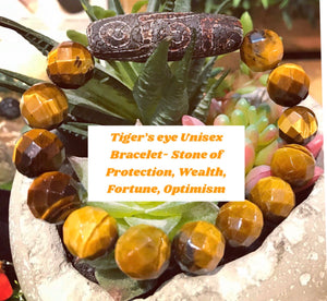 Tiger's Eye Dzi Protection Wealth Fortune Unisex