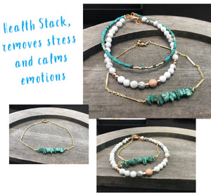 Health Stack with Turquoise and White Howlite