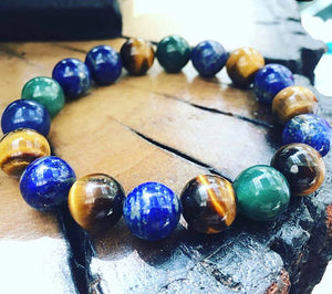 Tiger's eye Moss Agate Lapis Lazuli Bracelet Gift Idea Women's Bracelet Aromatherapy Bracelet Fortune Protection Optimism