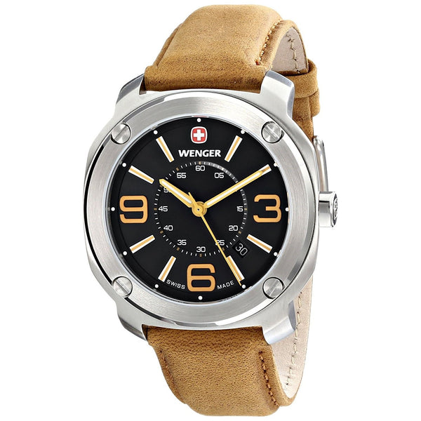 Wenger Men's 01.1051.102 'Escort' Brown Leather Watch
