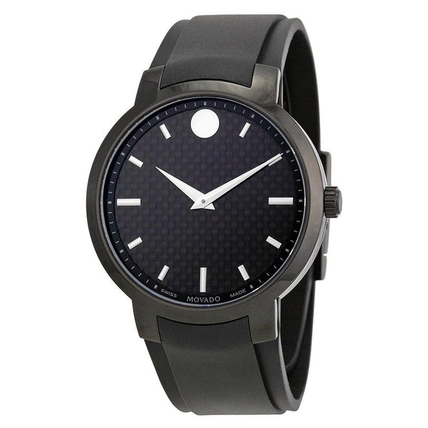 Movado Men's 0606849 'Gravity' Black Stainless Steel Watch