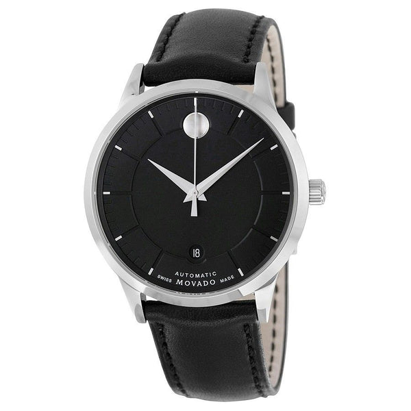 Movado Men's 0606873 '1881' Automatic Black Leather Watch