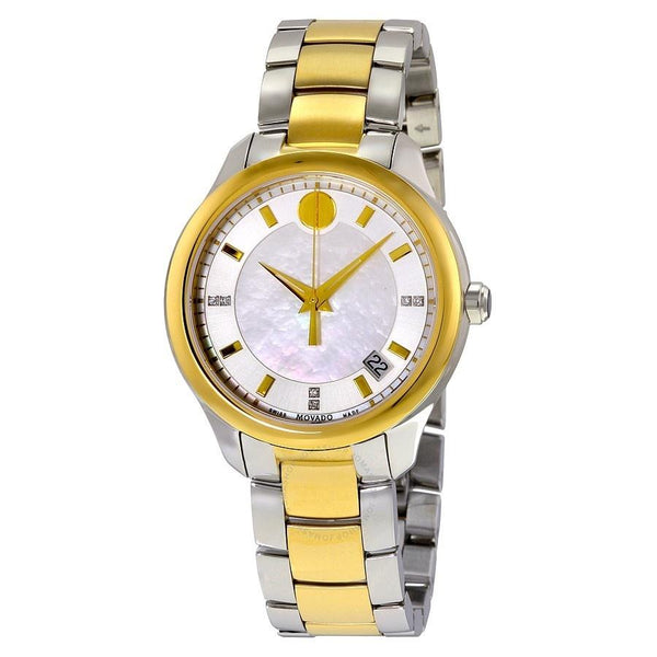 Movado Women's 0606979 'Bellina' Diamond Two-Tone Stainless Steel Watch