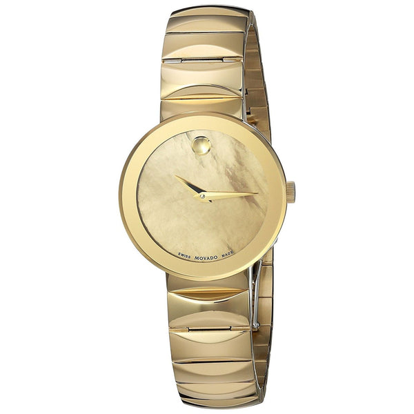 Movado Women's 0607049 'Sapphire' Gold-Tone Stainless Steel Watch