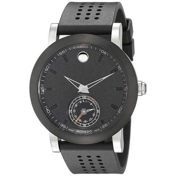 Movado Men's 0660003 'Museum Sport Motion Smartwatch' Black Rubber Watch