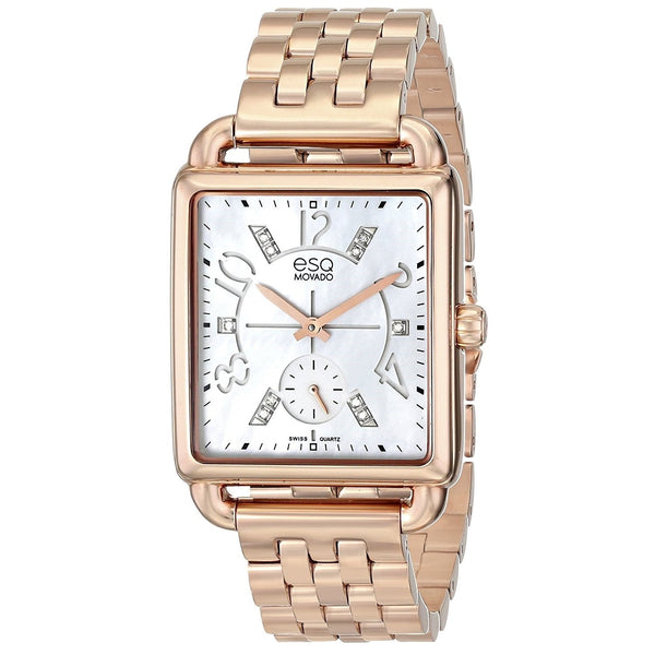 ESQ By Movado Women's 07101416 'Origin Ionic' Diamond Rose-Tone Stainless Steel Watch