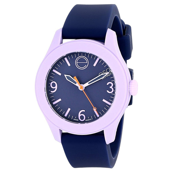 ESQ By Movado Women's 07101452 'One' Blue Silicone Watch