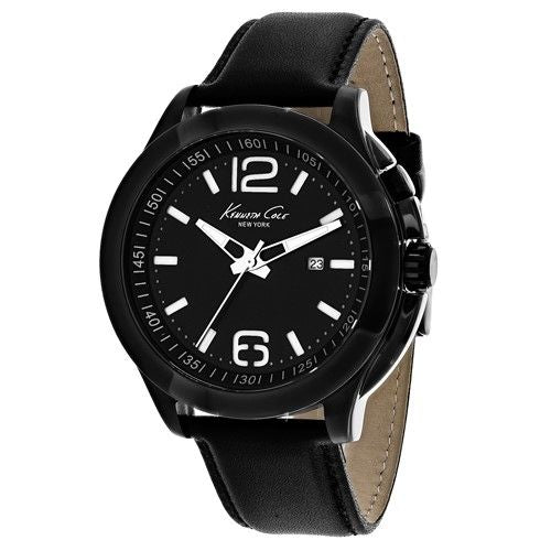 Kenneth Cole Men's 10022558 'Classic' Black Leather Watch