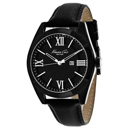Kenneth Cole Women's 10023858 'Classic' Black Leather Watch