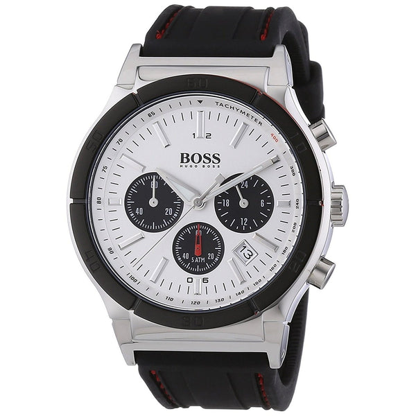 Hugo Boss Men's 1512499 'Black' Chronograph Black Rubber Watch