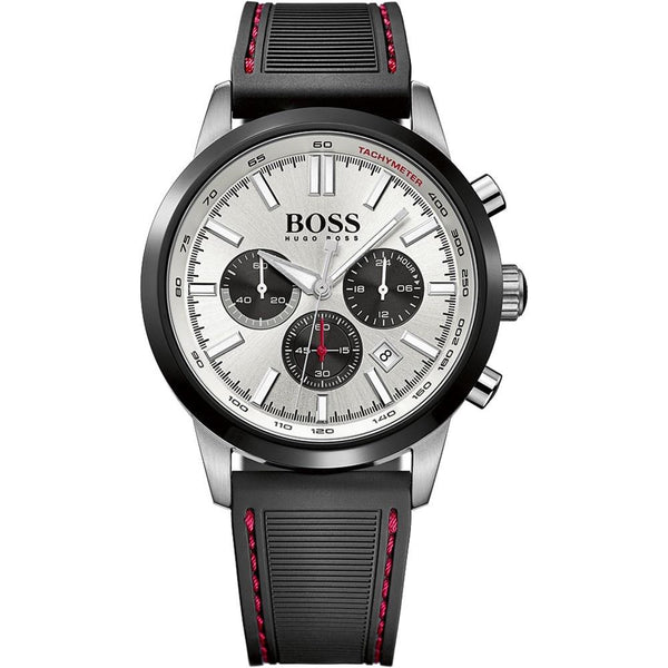 Hugo Boss Men's 1513185 'Racing' Chronograph Black Silicone Watch