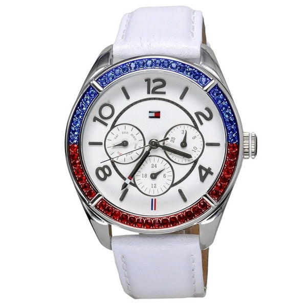 Tommy Hilfiger Women's 1781269 'Gracie' Multi-Function Crystal White Leather Watch
