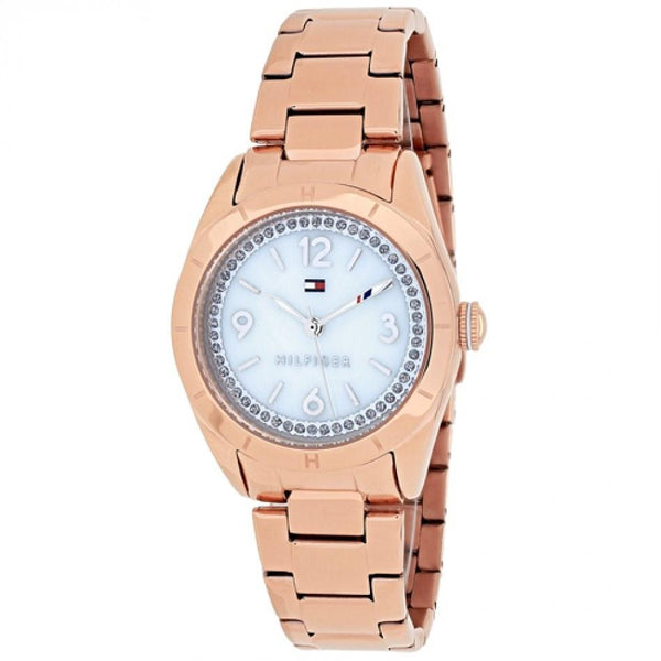 Tommy Hilfiger Women's 1781553 'Hadley' Crystal Rose-Tone Stainless Steel Watch