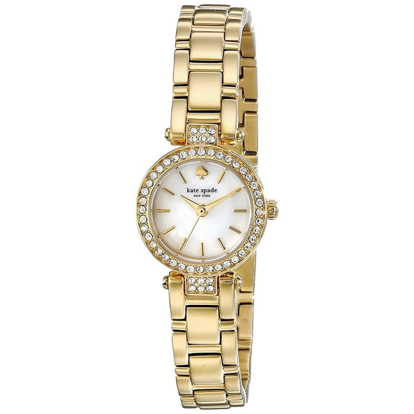 Kate Spade Women's 1YRU0723 'Gramercy Mini' Crystal Gold-Tone Stainless Steel Watch