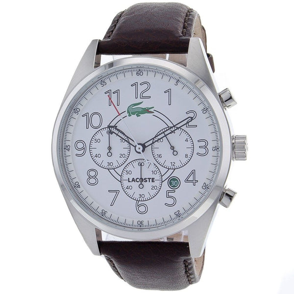 Lacoste Men's 2010620 'Zaragoza' Chronograph Brown Leather Watch