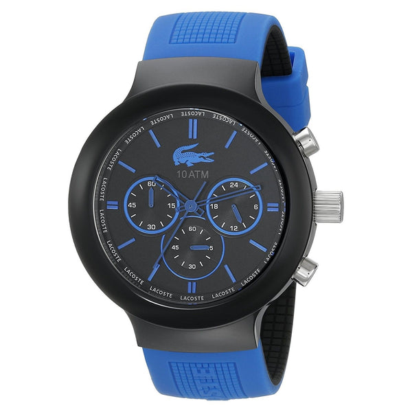 Lacoste Men's 2010654 'Borneo' Chronograph Blue Silicone Watch