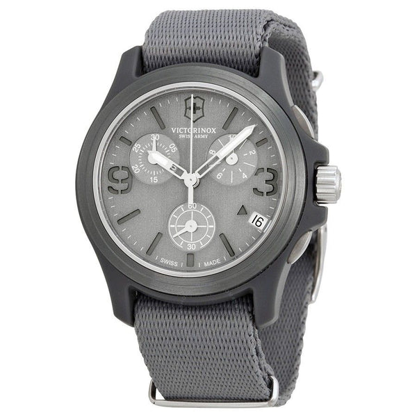 Victorinox Swiss Army Men's 241532 'Original' Chronograph Grey Nylon Watch