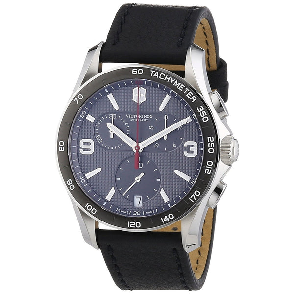 Victorinox Swiss Army Men's 241657 'Classic' Chronograph Black Leather Watch