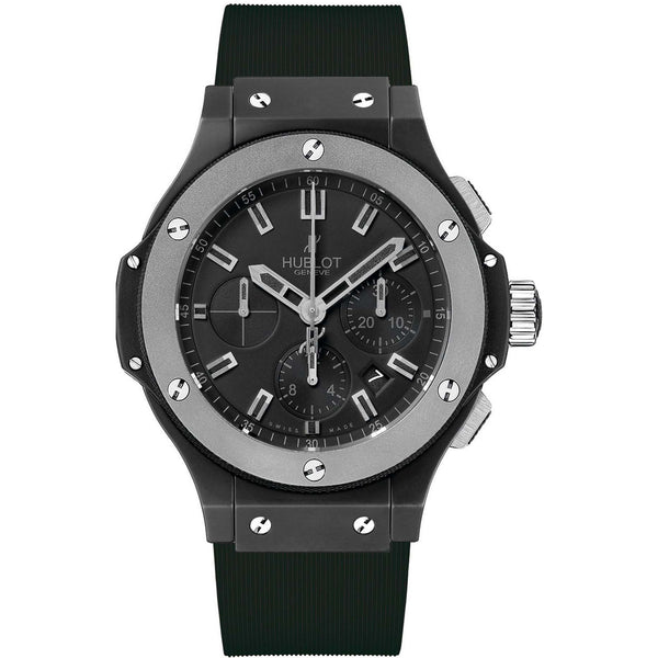 Hublot Men's 301.CK.1140.RX 'Big Bang Evolution' Chronograph Automatic Black Rubber Watch