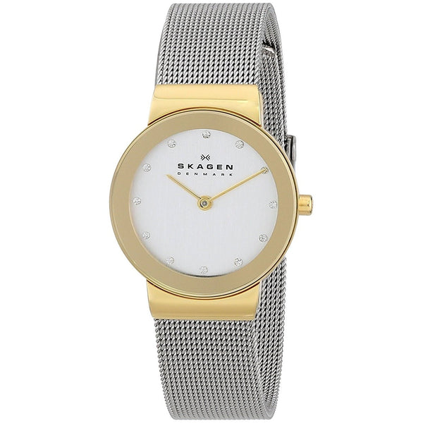 Skagen Women's 358SGSCD 'Freja' Crystal Stainless Steel Watch