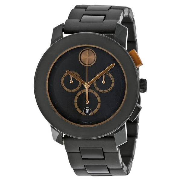 Movado Men's 3600271 'Bold' Chronograph Black Stainless Steel Watch