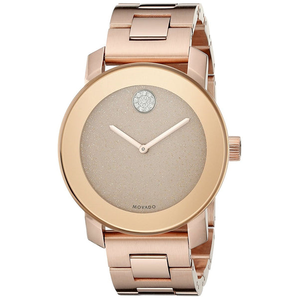 Movado Women's 3600335 'Bold' Crystal Rose-Tone Stainless Steel Watch