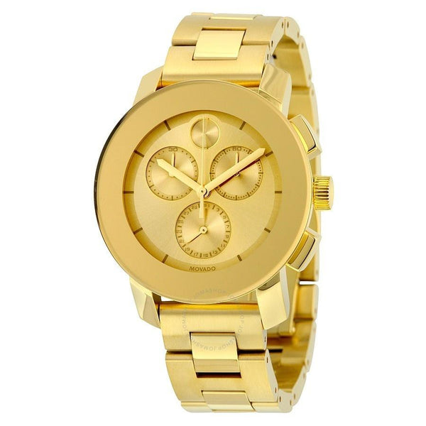 Movado Unisex 3600358 'Bold' Chronograph Gold-Tone Stainless Steel Watch