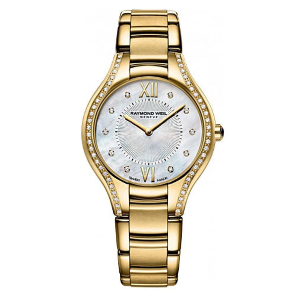 Raymond Weil Women's 5132-PS-00985 'Noemia' Diamond Gold-Tone Stainless Steel Watch