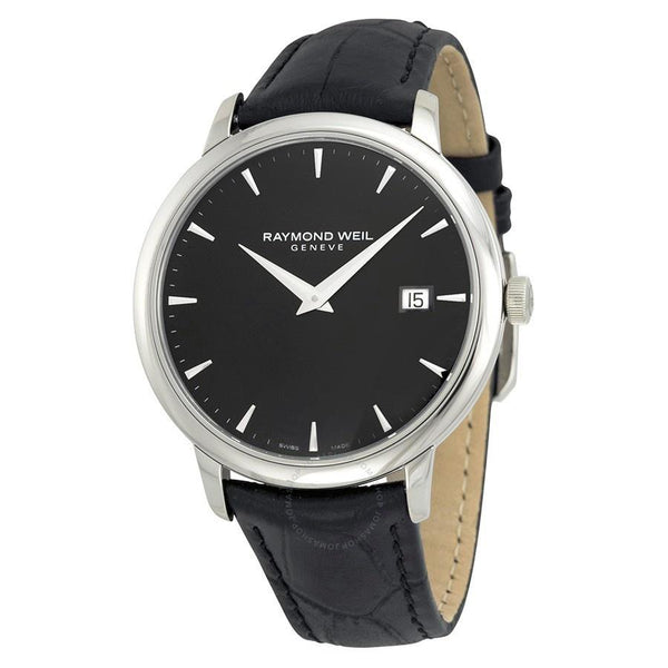 Raymond Weil Men's 5488-STC-20001 'Toccata' Black Leather Watch