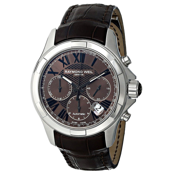 Raymond Weil Men's 7260-STC-00718 'Parsifal' Automatic Chronograph Brown Leather Watch