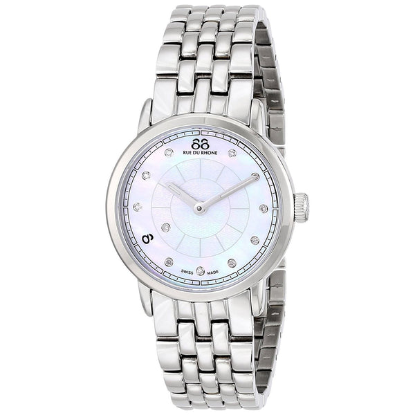88 Rue Du Rhone Women's 87WA120005 'Double 8' Diamond Stainless Steel Watch