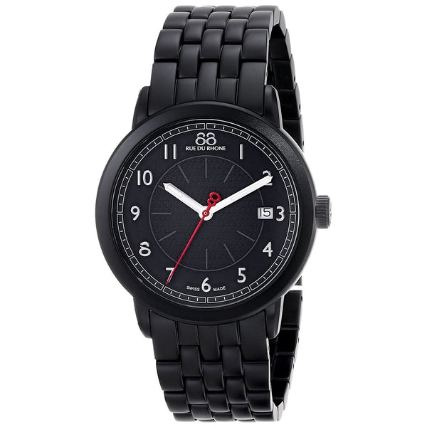 88 Rue Du Rhone Men's 87WA120025 'Double 8' Black Stainless Steel Watch