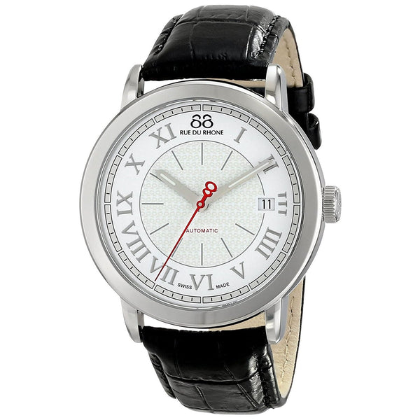 88 Rue Du Rhone Men's 87WA120033 'Double 8' Automatic Black Leather Watch