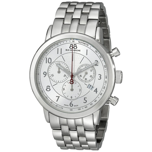 88 Rue Du Rhone Men's 87WA120044 'Double 8' Chronograph Stainless Steel Watch