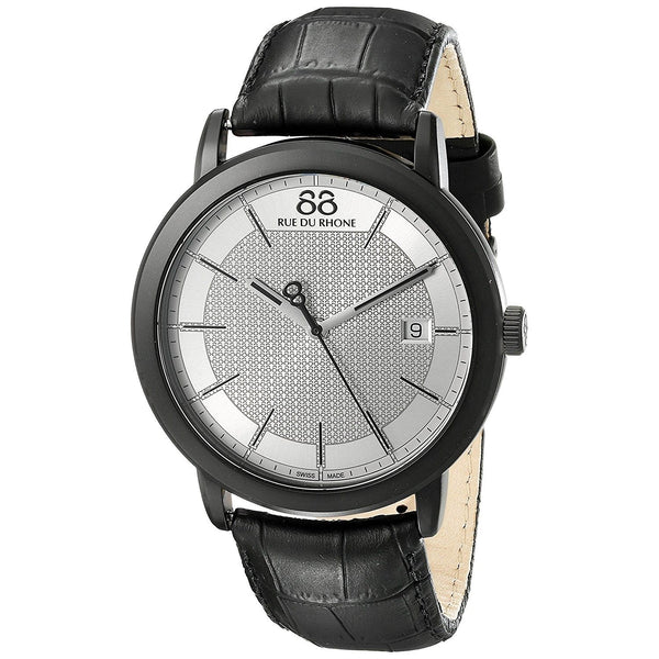 88 Rue Du Rhone Men's 87WA130020 'Double 8' Black Leather Watch