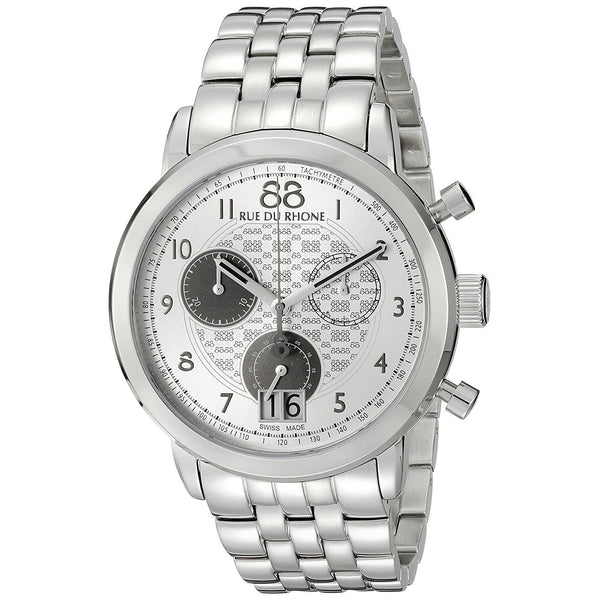 88 Rue Du Rhone Men's 87WA140032 'Double 8' Chronograph Stainless Steel Watch