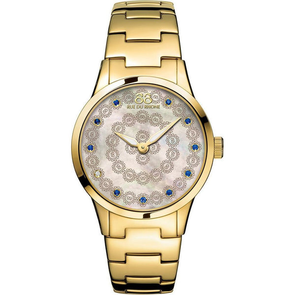 88 Rue du Rhone Women's 87WA153205 'Double 8 Origin' Diamond Gold-Tone Stainless Steel Watch