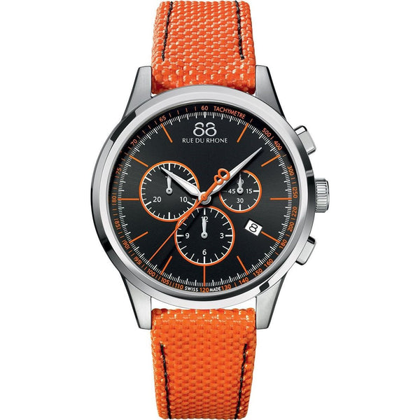 88 Rue du Rhone Men's 87WA154301 'Double 8 Origin' Chronograph Orange Leather Watch
