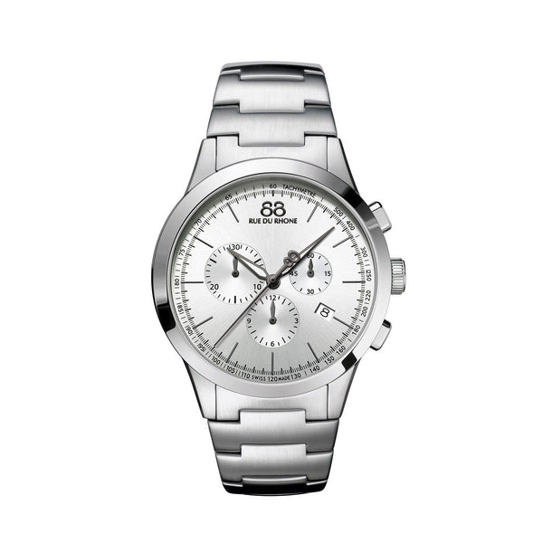 88 Rue du Rhone Men's 87WA154308 'Double 8 Origin' Chronograph Stainless Steel Watch